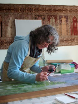 Hue and Dye - Margaret Wilmot painting on silk